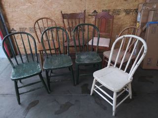 lot of 8 Vintage Chairs   Most Need Repaired