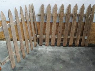 2 Weathered Old Picket Fence Sections   Both are 42  Tall    52    45  Wide