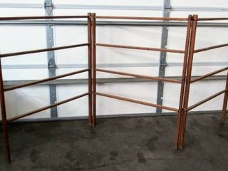 Primitive Vintage Folding Wood Herb Drying  laundry  or Tobacco Drying Rack   Aprrox 9 ft long   46  Tall