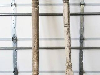 Architectural Salvage Porch Pillars   lot of 2    8  10  H x 5  D x 5  W
