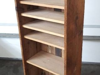 Old Bookcase w 6 Shelves   54 25  H x 20 5  W x 13  D
