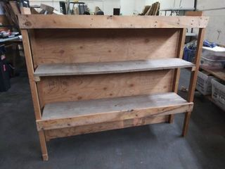 large Bookshelf with 3 Shelves   58  W x 13 5  D x 50  H
