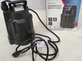 Utilitech 0 167 hp Thermoplastic Submersible Utility Pump 2