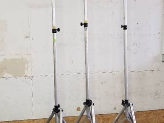 Aluminum light Stands 10  Tall  Total of 3