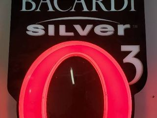 Bacardi Silver 3 Neon Bar Sign