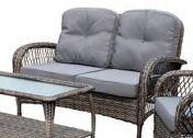 Corvus Padova Wicker Patio love Seat ONlY