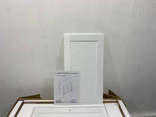 White 2 door Cabinet