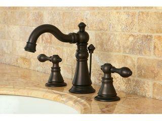 American Patriot Oil Rubbed Bronze Widespread Bathroom Faucet Retail 151 99