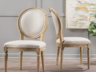 Phinnaeus French Country Fabric Dining Chairs  Set of 2  by Christopher Knight Home Retail 245