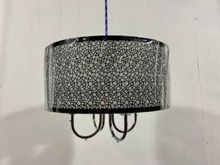 Indoor 4 light Chrome  Crystal  Metal Bubble Shade Chandelier Retail 138 99