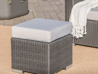Santa Rosa Outdoor 16 inch Square Wicker Ottoman with Cushion by Christopher Knight Home Retail 86 49