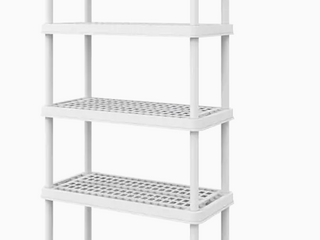 Keter 36 inch X 18 inch storage unit with five shelves