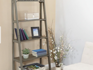 The Gray Barn Fox Crossing Grey Washed ladder Bookcase  Retail 169 99