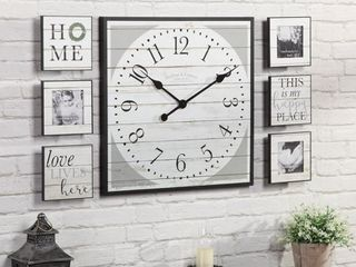 FirsTime   Co  Farmhouse Shiplap Gallery Set  American Crafted  Black  Plastic  20 x 2 x 20 in   20 x 2 x 20 in