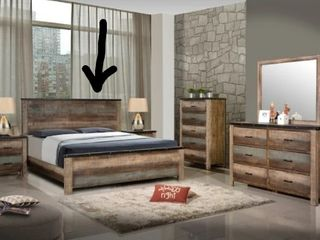 BED ONlY  part of Portsmouth Antique Multi color 6 piece Bedroom Set Retail 3027 49