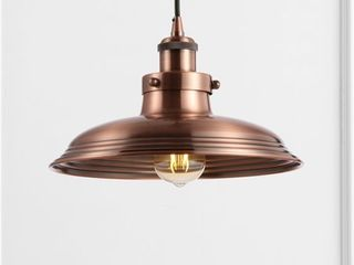 JONATHAN Y Bedford 11  Adjustable Iron Industrial Rustic lED Pendant  Copper Retail 86 02