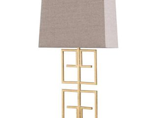 StyleCraft lexi Gold leaf Table lamp   Beige Shade