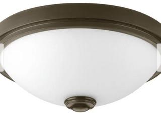 Progress lighting lED linen One light DC lED Flush Mount