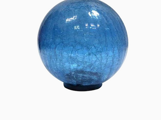 Style Selections Solar Gazing Ball Blue  Retail  24 98