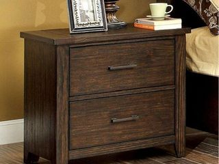 Ribeira Traditional Night Stand End Table In Dark Walnut Finish  Retail 289 49