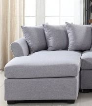 large linen Fabric Sectional Sofa  left Facing Chaise lounge   ONlY    complete Set Retail 757 49