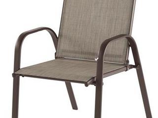 Brown metal outdoor chair