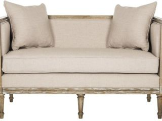 Safavieh leandra Beige   Antique Beige Rustic French Country Settee   53  x 28 8  x 31 5  Retail 769 99