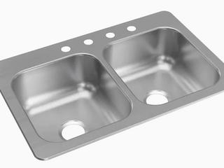 Elkay Double stainless steel sink  Retail  159 00