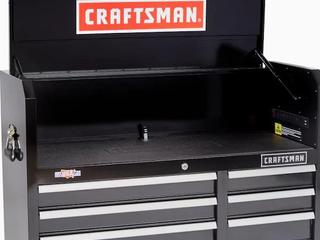 CRAFTSMAN 2000 Series 6 Drawer Steel Tool Chest  Black  Retail  289 00