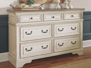 The Gray Barn Nettle Bank Off white Wood Dresser