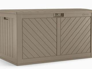 Suncast 26 75 in l x 49 25 in 134 Gallon Brown Deck Box  Retail  98 00