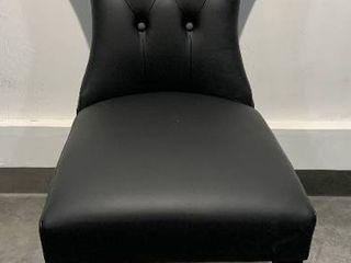 Porch   Den Hester Modern Black Dining Chair  Retail 104 49