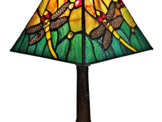 Copper Grove Dahi 15 inch Tiffany style Mini Mission style Accent lamp  Retail  66 99