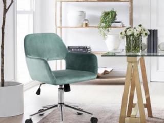 Porch   Den Sabrina Velvet Home Office Swivel Chair Retail 126 34