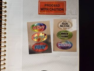 lot of 8 Vending Machine Stickers Decals
