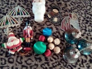 lot of Christmas tree ornaments