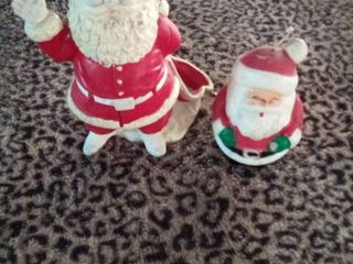 Santa figures  one candle