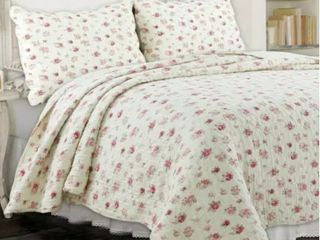 Copper Grove Madeline Pink Rose Country Comforter Set   Queen