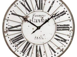 Monroy Rustic Farmhouse Wall Clock