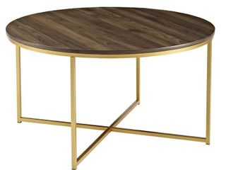 Walker Edison Coffee Table w  X Base