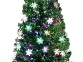Pre lit Artificial Christmas Tree w  Multicolored lED lights