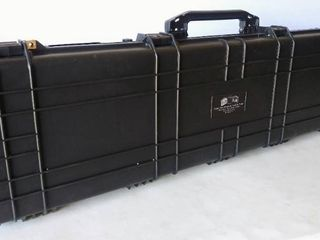 52  Heavy Duty Roller Tactical Rifle Hard Case w Foam  Measurements are in the Photos  Waterproof   Crushproof  Multiple Guns  Pressure Valve