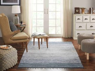 Chesapeake Cotton Ombre Grey Area Rug  7 3  x 9 3