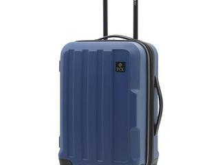 Travelers Club Expandable Spinner Hardside luggage Set  Navy Blue  20 Inch