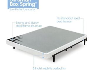 ZINUS 5 Inch Smart Metal Box Spring   Mattress Foundation   Strong Metal Frame   Easy Assembly  King
