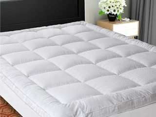 SOPAT Extra Thick Mattress Topper  Twin Cooling Mattress Pad Cover Pillow Top Construction  8 21Inch Deep Pocket Double Border Down Alternative Fill Breathable