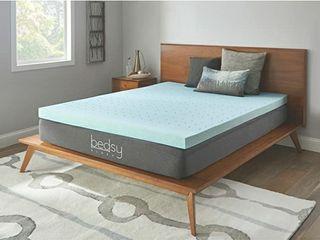 Bedsy Sleep Mattress Topper Gel Memory Foam  Queen  Blue
