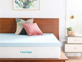 linenspa 3 Inch Gel Infused Memory Foam Queen Mattress Topper