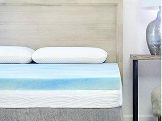 Sure2Sleep Gel Swirl Memory Foam Mattress Topper Made in USA 3 Inch  King
