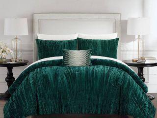 Chic Home Westmont 4 Piece King Comforter Set Bedding  Torn IJ